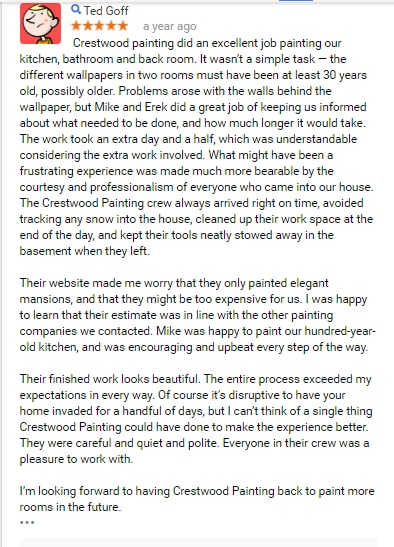 painter review testimonial kansas city crestwood