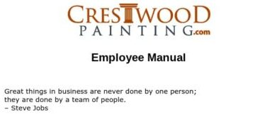 crestwood painting employee manual