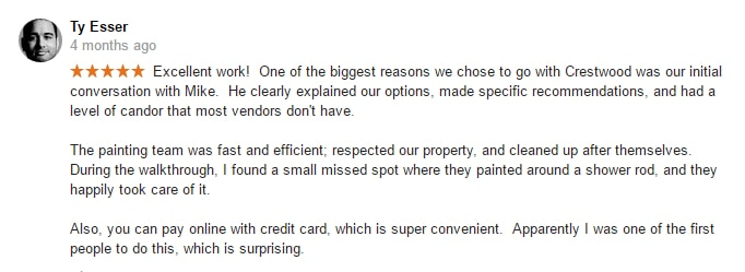 painter review online crestwood painting